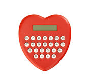 Red calculator heart shaped Royalty Free Stock Photography