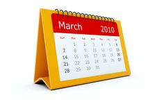 Red calendar Royalty Free Stock Photography