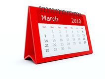 Red calendar Royalty Free Stock Photo