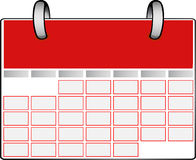 Red Calendar Royalty Free Stock Image