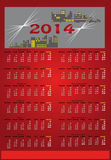 Red calendar 2014 Royalty Free Stock Image