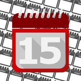 Red Calendar - Vector Icon number15. Red Calendar - Vector Icon number 15 vector icon Stock Images