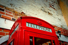 Red call-box by CU Stock Image