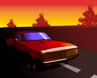 Red Camaro Stock Image