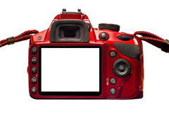 Red Camera Back With Blank Monitor and Straps Royalty Free Stock Photography