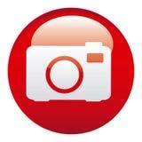Red camera emblem icon. Illustraction design image Stock Photos