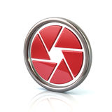 Red camera objective icon Royalty Free Stock Images