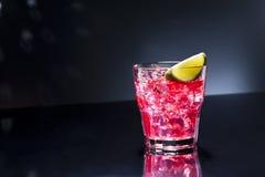 Red Campari Cocktail Stock Photo