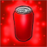 Red can Stock Photo