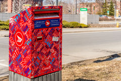 Red Canada Post mailbox Stock Photography