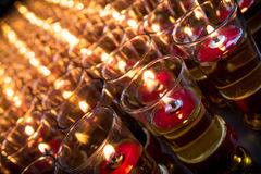 Red candels Stock Images