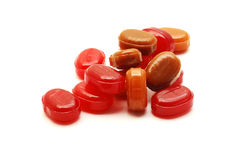 Red candies Stock Photos