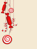 Red candies. Vector picture with different red candies Royalty Free Stock Image