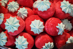 Red candies closeup Stock Image