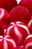 Red candies and jellies stock images