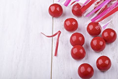 Red candies Stock Image