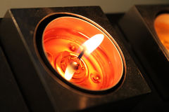 Red Candle Stock Photography