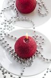 The red candle Royalty Free Stock Photos