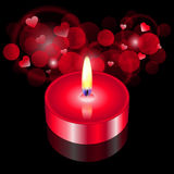 Red candle. Vector illustration of red candle Stock Image