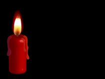 Red candle Stock Photos