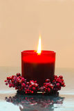 Red Candle Stock Image