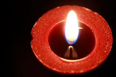 Red candle, from above Royalty Free Stock Photos