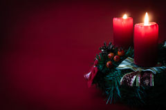Red candle Stock Images