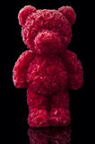 Red candle bear Stock Photo