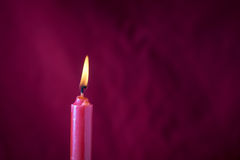 Red Candle with Blur background Stock Photography