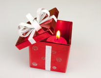 Red Candle Box Stock Photography