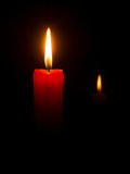Red candle Royalty Free Stock Photography