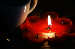 Red candle. Royalty Free Stock Photography
