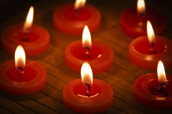 Red candle. Stock Photography