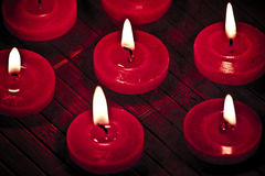 Red candle. Stock Image