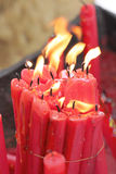 Red candle of burning. Royalty Free Stock Photo