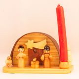 Red candle crib Stock Photo