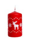 Red candle with deer Royalty Free Stock Images