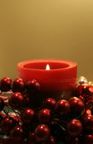 Red Candle Gold Royalty Free Stock Photos