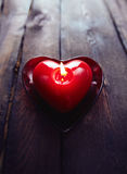 Red candle heart Royalty Free Stock Photography