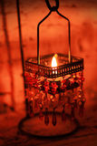 Red candle light Stock Photography