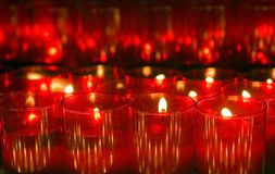 Red candle lights Royalty Free Stock Image