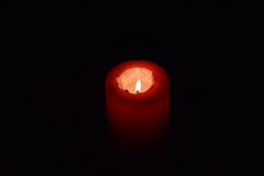 Red candle. Stock Photos