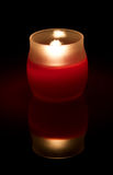 Red Candle At Night Royalty Free Stock Photos