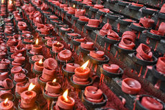 Red Candle Offereings Royalty Free Stock Images