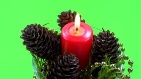 Red candle ornament spin Stock Photos