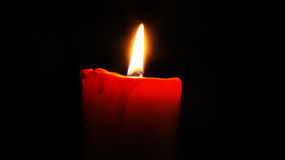 Red Candlelight Royalty Free Stock Photo