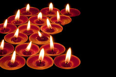 Red tea lights Royalty Free Stock Photos