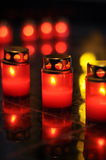 Red candles Stock Image