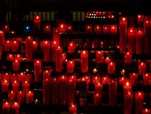 The red candles stock images