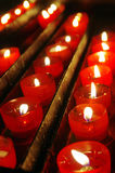 Red Candles Stock Photos